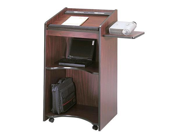 Executive Mobile Lectern in Mahogany Finish