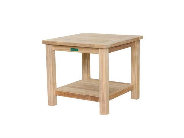 Brianna Unfinished 22 in. 2-Tier Square Side Table