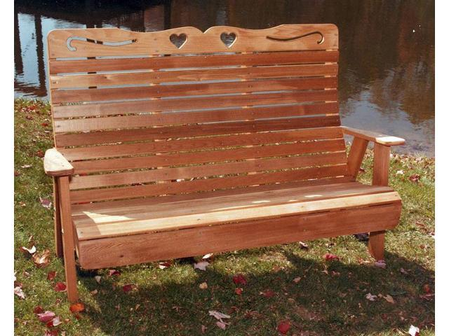 Country Hearts Garden Bench (Large)