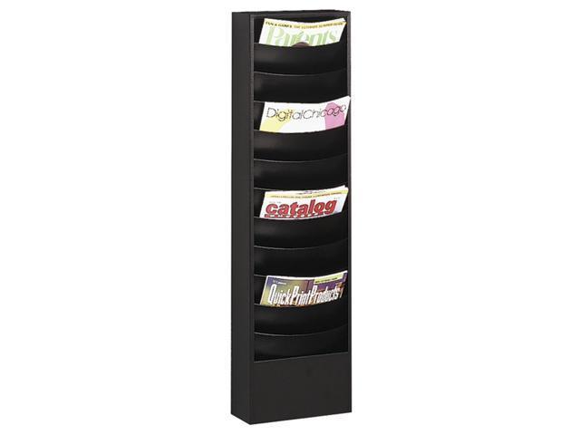 11 Pocket Curved Magazine Rack (Black)