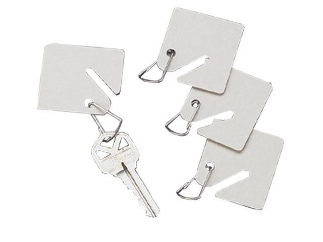 15 White Fiber Key Tags