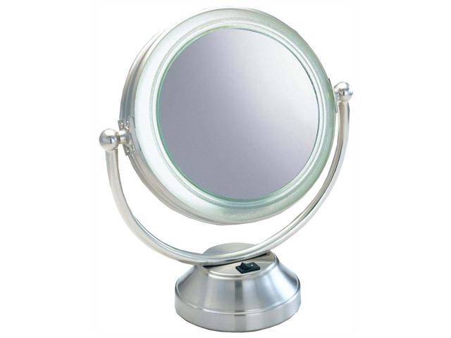 fluorescent lighted magnifying vanity mirror. Black Bedroom Furniture Sets. Home Design Ideas