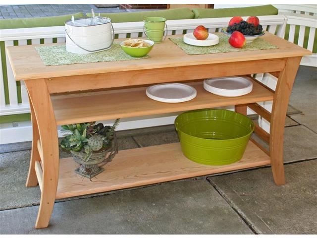 48 in. Entertaining Buffet Table