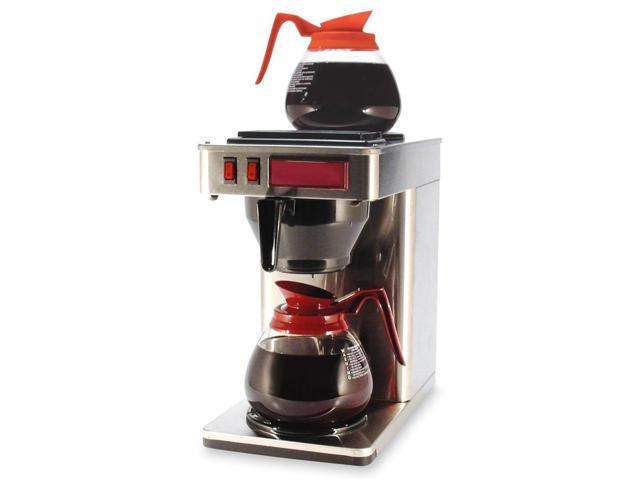 """Coffeepro 2-Burner Coffeemaker,10""""X12""""X22"""",3 Prong Cord,Stainless St"""