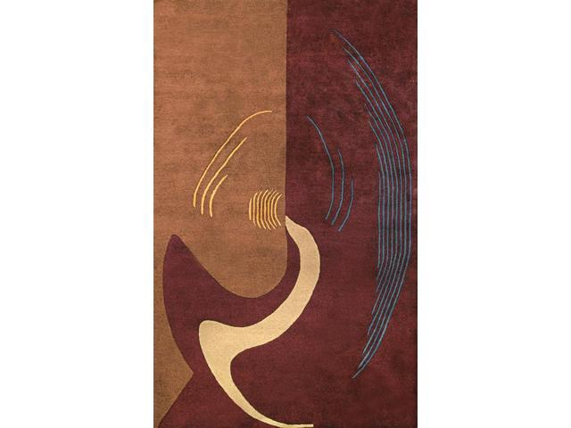 Bengal Area Rug In Burgundy-Brown - 5.5 ft x 3.5 ft.