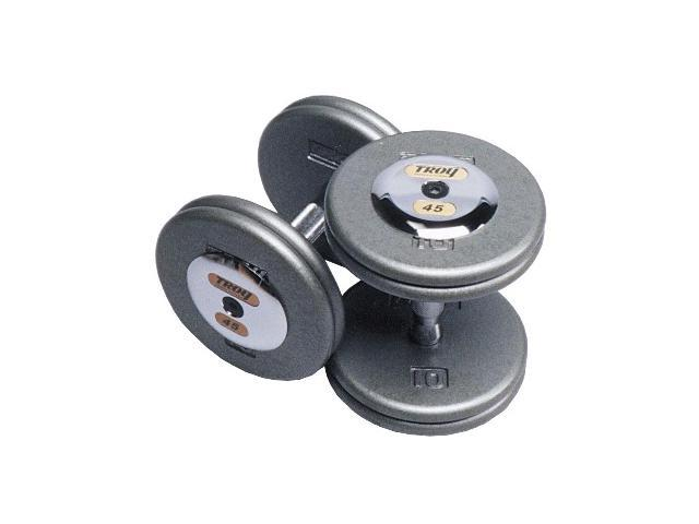 Fixed Pro-Style Dumbbells with Straight Handle and Chrome End Caps - Set of 2 (35 lbs.)