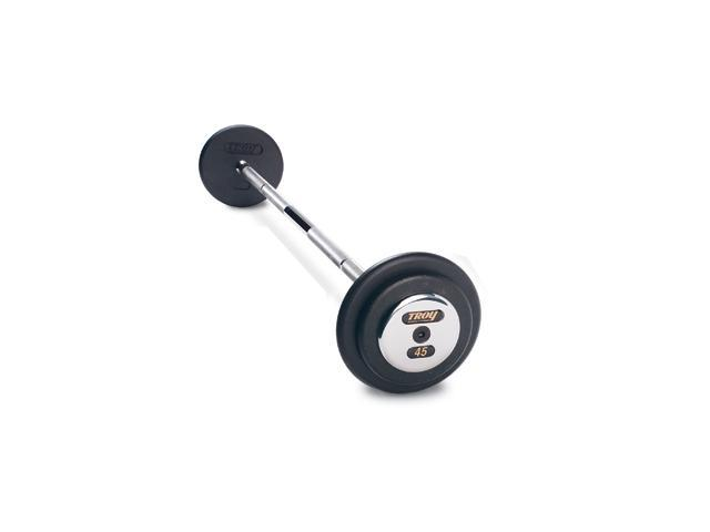 Pro-Style Fixed Barbell 20-110 lb Black Plate Set with Chrome End Caps