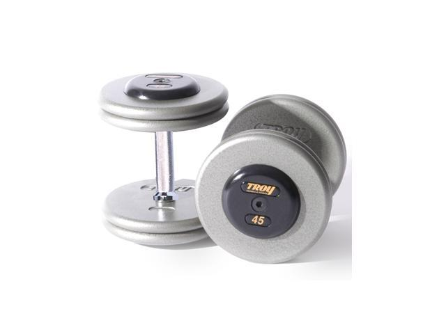Fixed Pro-Style Dumbbells with Straight Handle and Rubber End Caps - Set of 2 (25 lbs.)