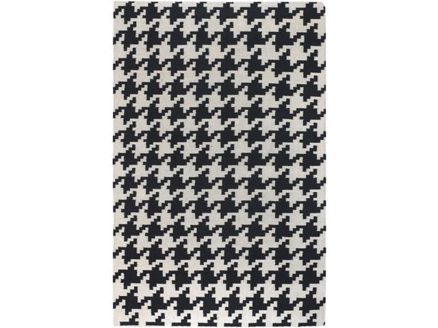 Frontier FT18 Wool Rug in Black & Ivory Houndstooth Pattern (2 ft. x 3 ft.)