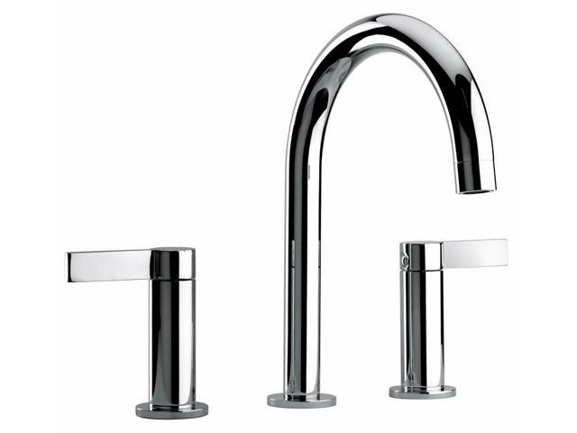 Jewel Faucets Two Lever Handle Widespread Lavatory Faucet (Brushed Chrome)