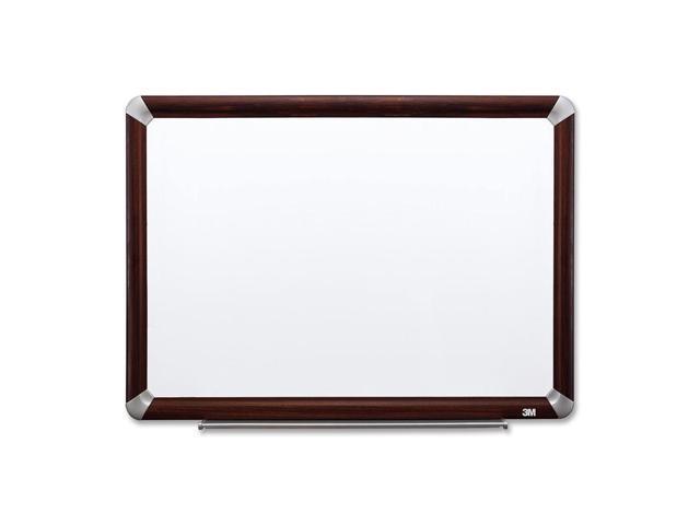 3M Dry-Erase Board,w Marker/Accessory Tray,4'X3',Mahogany