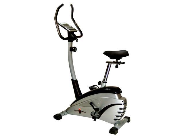 Mag Trac Upright Bike w Adjustable Padded Seat in Black & Silver