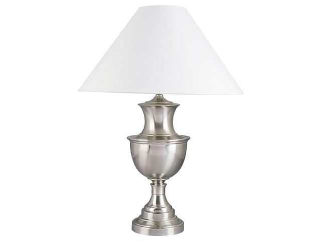 Metal Base Table Lamp in Satin Nickel Finish