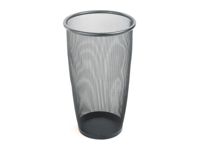 Onyx Mesh Large Round Wastebasket in Black - Set of 3