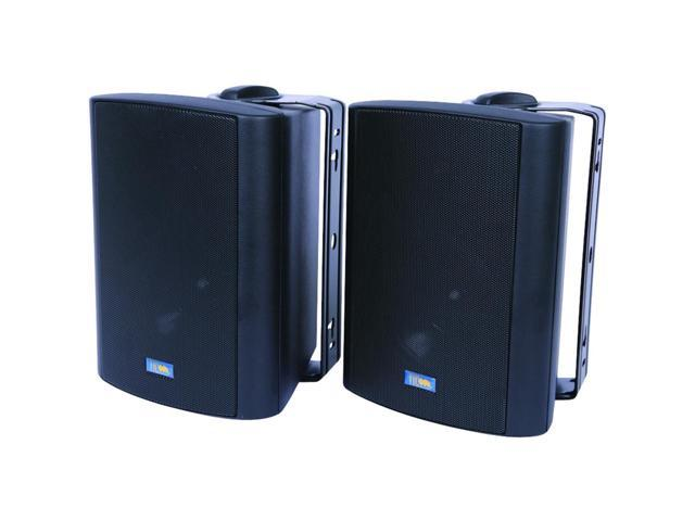 Indoor/Outdoor 75-Watt Speakers w 70 Volt Switching (Black)
