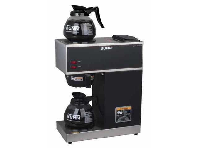 12-Cup Pourover Commercial Coffee Brewer in Black