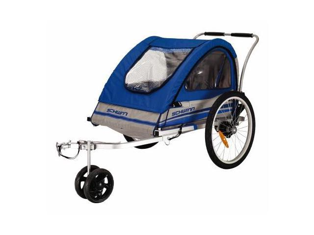Trailblazer Double Bicycle Trailer in Blue and Gray