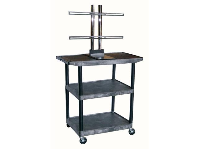 LCD Mount AV Cart w 3 Shelves