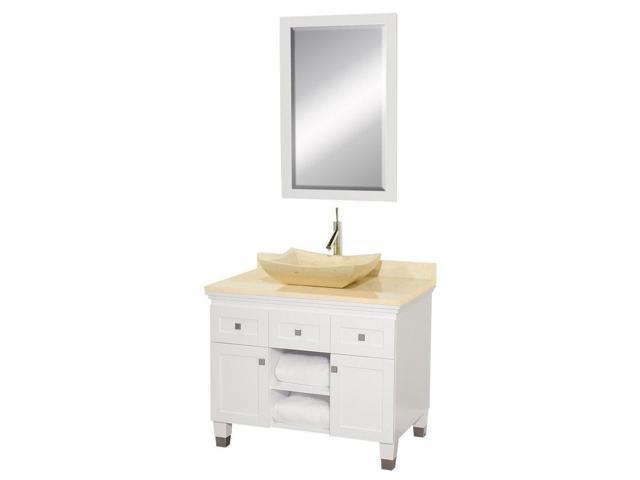Eco friendly bathroom vanity with ivory marble sink - Eco friendly bathroom sinks ...