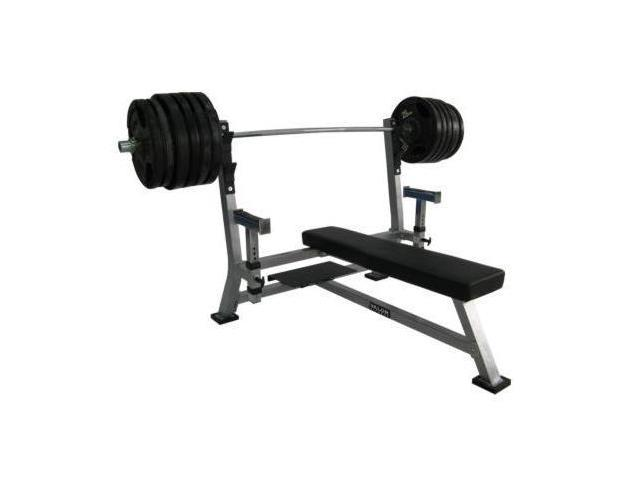 Olympic Bench w Spotter Stand in Diamond Steel Plate