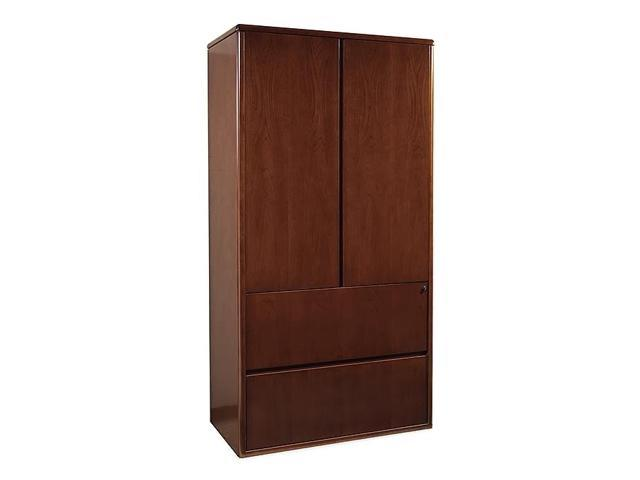 Two door storage cabinet with 2 drawer lateral file below for Door 9 sonoma