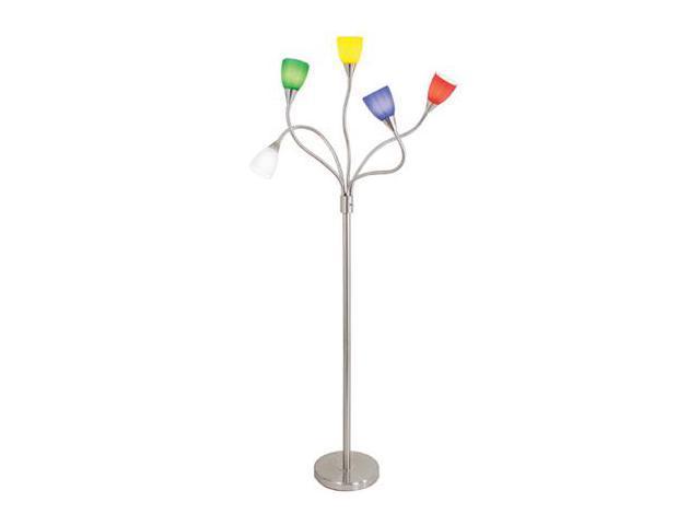 Medusa Floor Lamp Glass Shades : Medusa floor lamp w multi color glass shades metal base