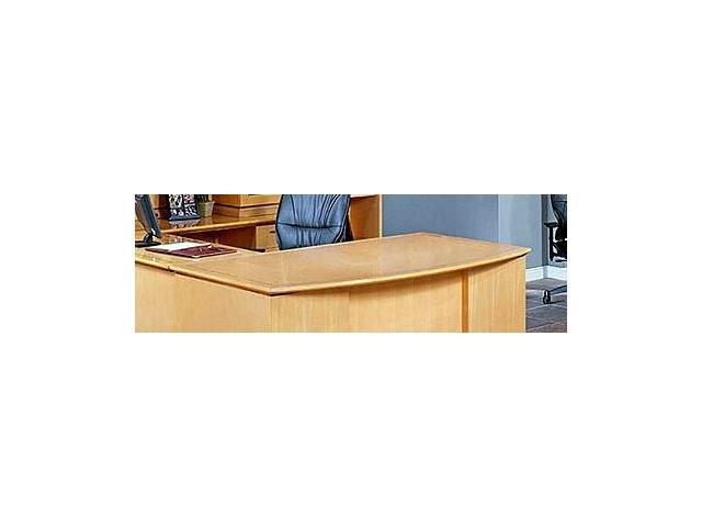 left bow desk top mod set w laminate surface mahogany