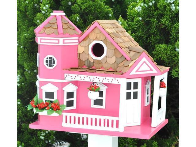 Home Bazaar Sea Cliff Cottage Birdhouse - Yellow - HB-9092YS