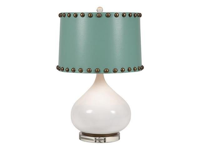 table lamp with turquoise drum shade. Black Bedroom Furniture Sets. Home Design Ideas