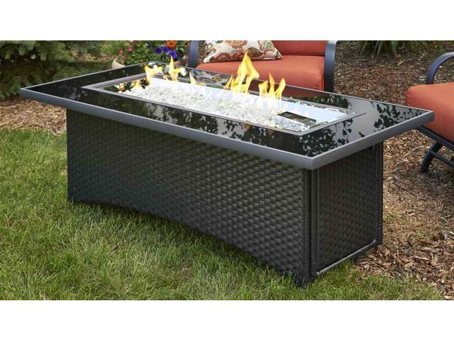 Fire Pit Coffee Table : ... -BLSM-K Montego Crystal Fire Pit Coffee Table with Balsam Wicker Base