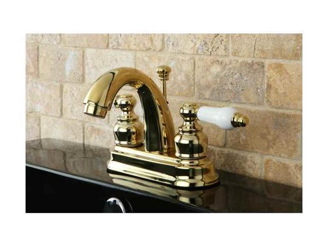 Kingston Brass KB5612PL Restoration 4-Inch Centerset Lavatory Faucet ...