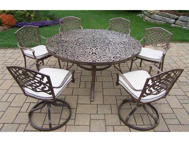pc round outdoor dining table set