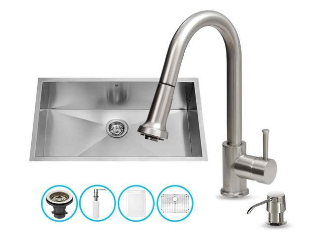 undermount kitchen sink and faucet set newegg com