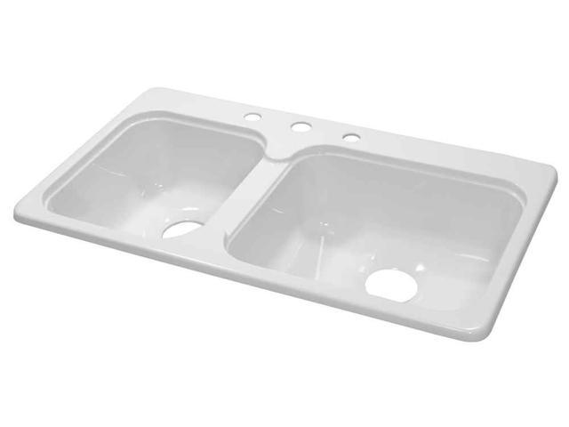 Acrylic Double Sink in White - Newegg.com