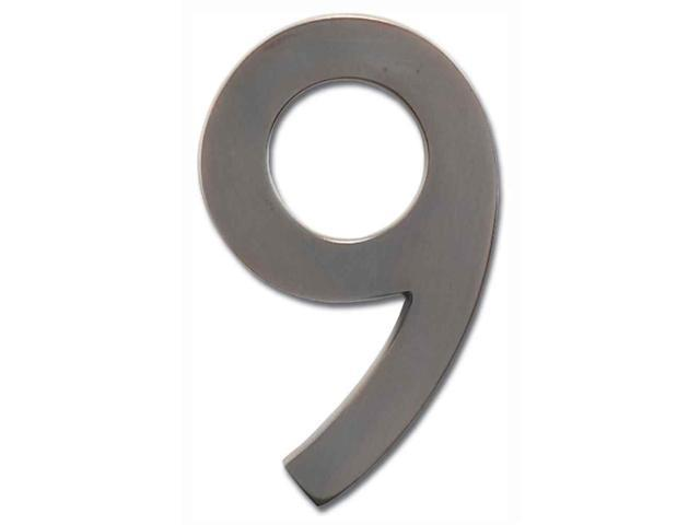 Architectural Mailboxes 3585DC-9 Solid Cast Brass 5 in. Dark Aged Copper Floating House Number 9