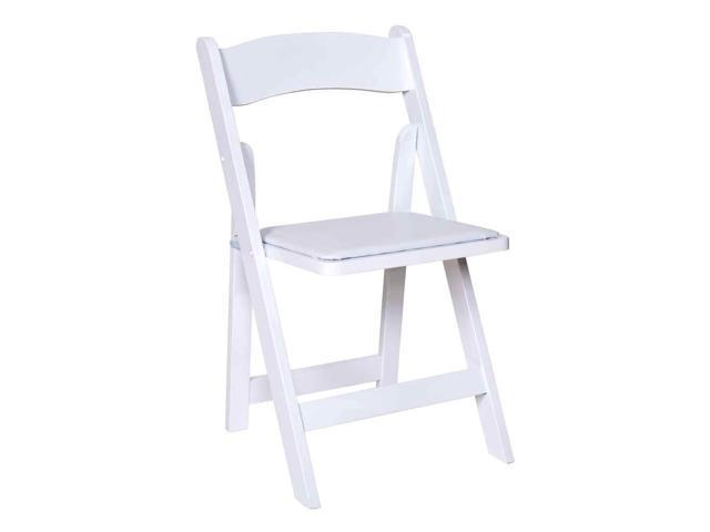 Wooden Folding Chairs in White Finish Set of 4 Newegg