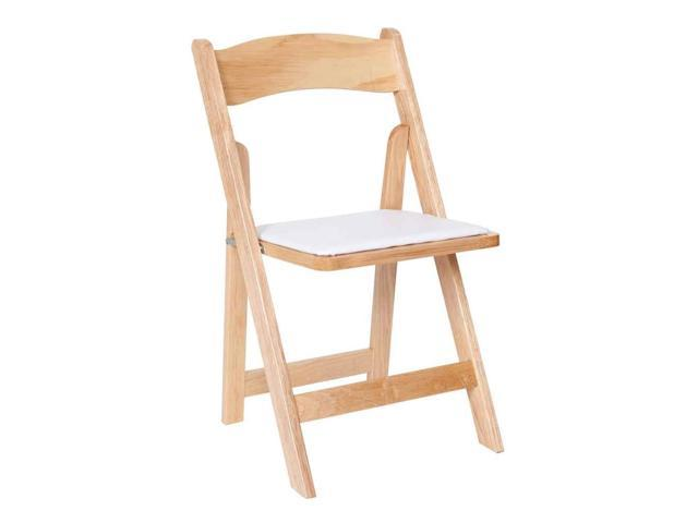 Folding Chair with Vinyl Cushions Set of 4 Newegg