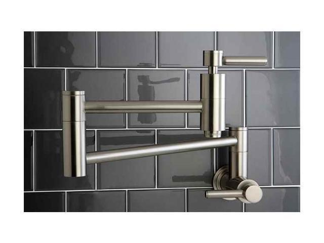 Kingston Brass KS8108DL Concord Wall Mount Pot Filler