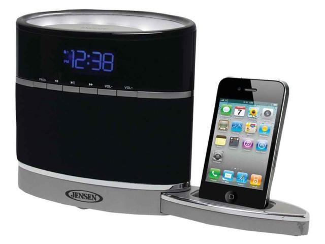 iphone docking alarm clock radio with night light. Black Bedroom Furniture Sets. Home Design Ideas
