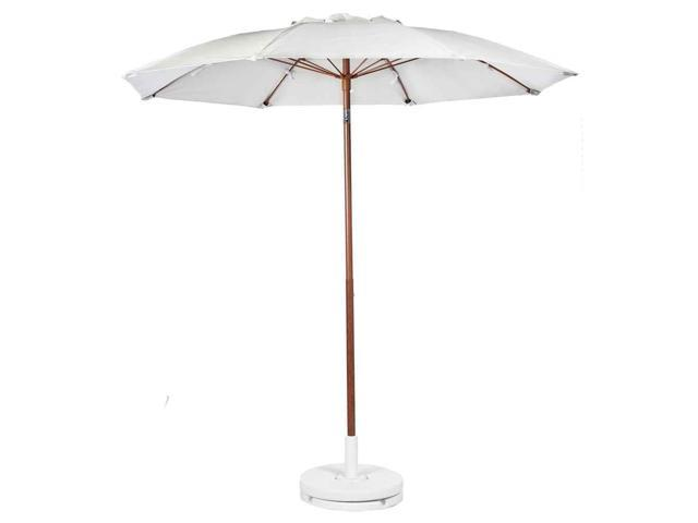 patio umbrella with manual lift in white