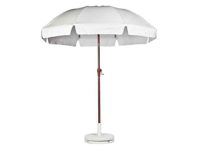 patio umbrella in white