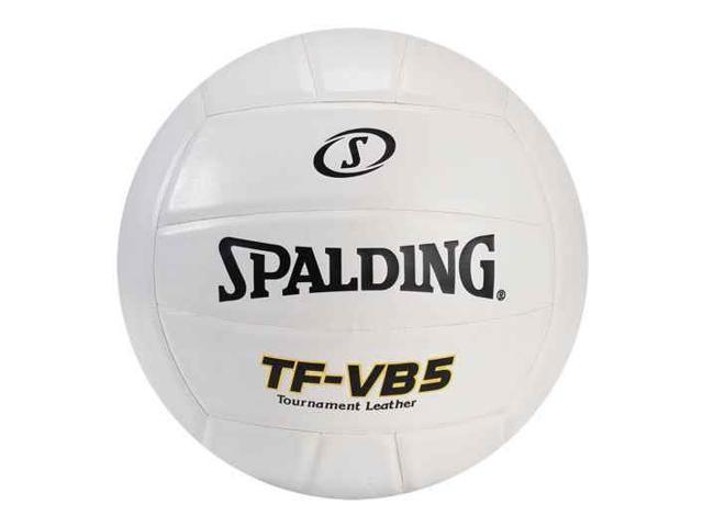 Leather Volleyball in White