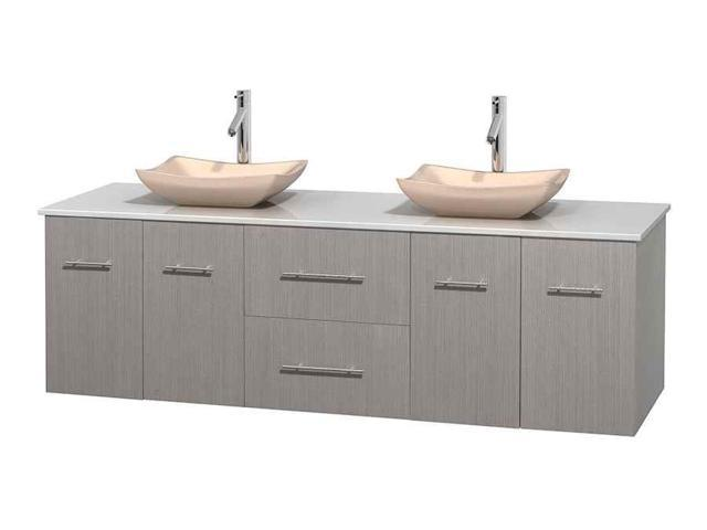 72 In Double Bathroom Vanity With Stone Countertop