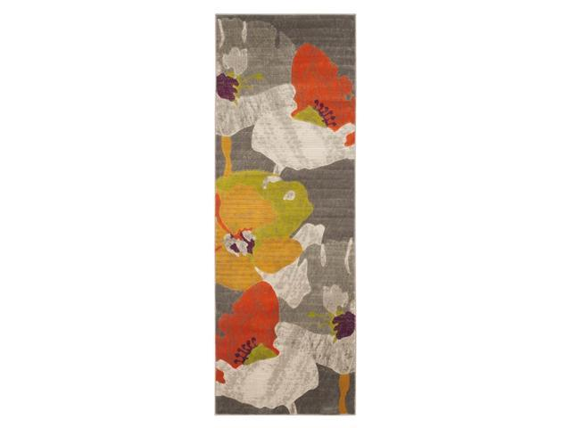 Runner Rug in Dark Gray and Ivory (11 ft.  L x 2 ft. 4 in.  W)