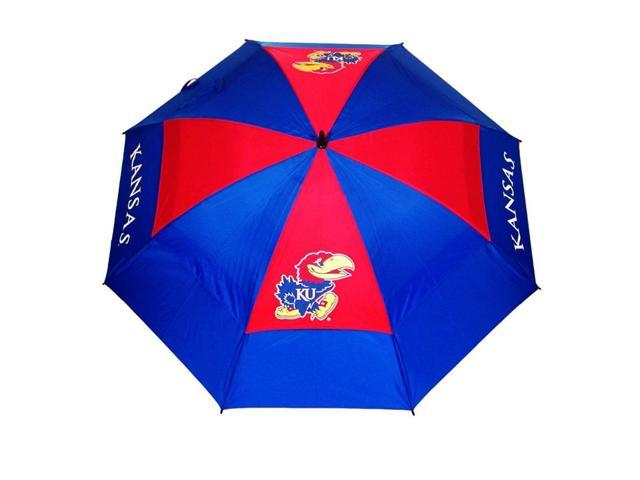 Team Golf 21769 Kansas Jayhawks 62 in. Double Canopy Umbrella