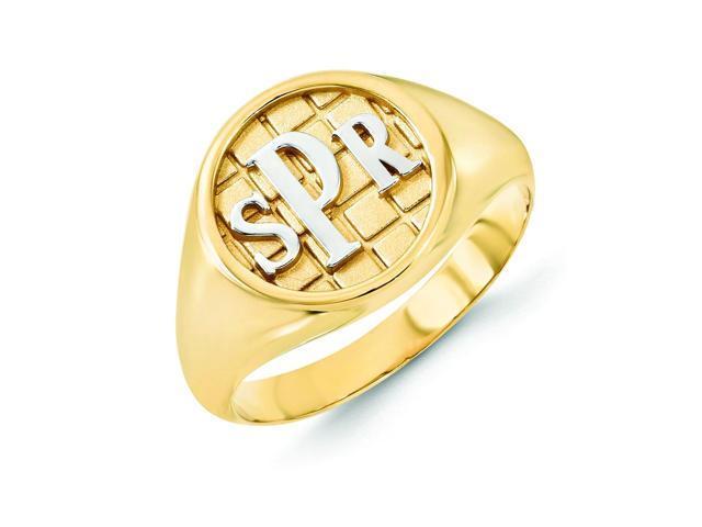 10k yellow gold monogram signet ring newegg