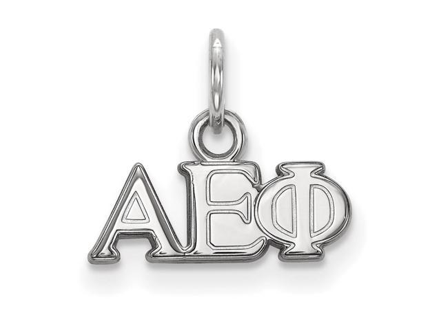 Sterling Silver Alpha Epsilon Phi Extra Small Pendant
