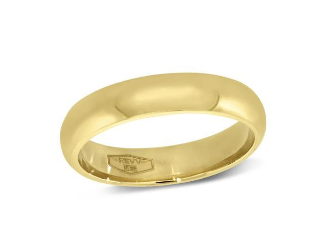 4MM Comfort Fit Plain Band in 10K Yellow Gold