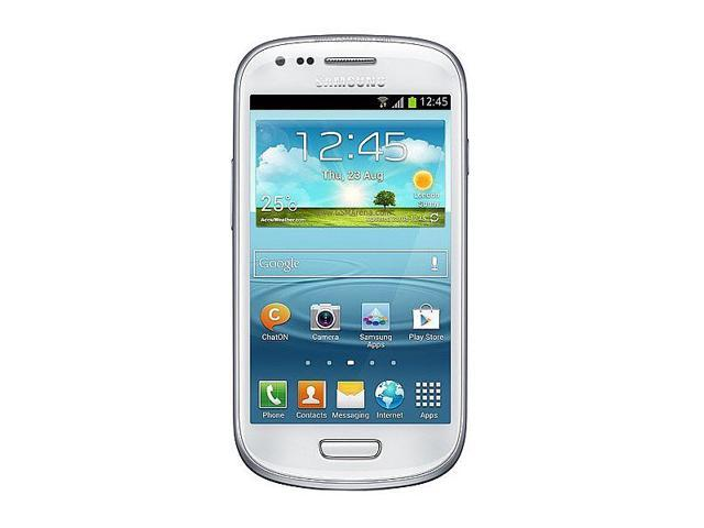 Samsung I8190 Galaxy S III mini Baby S3 Quad Band Android OS, v4.1 Jelly Bean Unlocked Phone (White)
