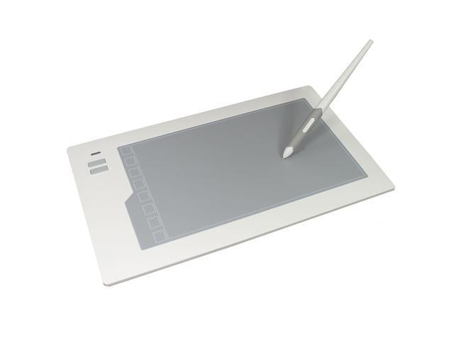 """Perixx PERITAB-502, 12"""" 2048 Level Graphics Tablet - White - Battery-Free Pen Technology - 9x5.75"""" Working Area - Slim 0.3"""" ..."""